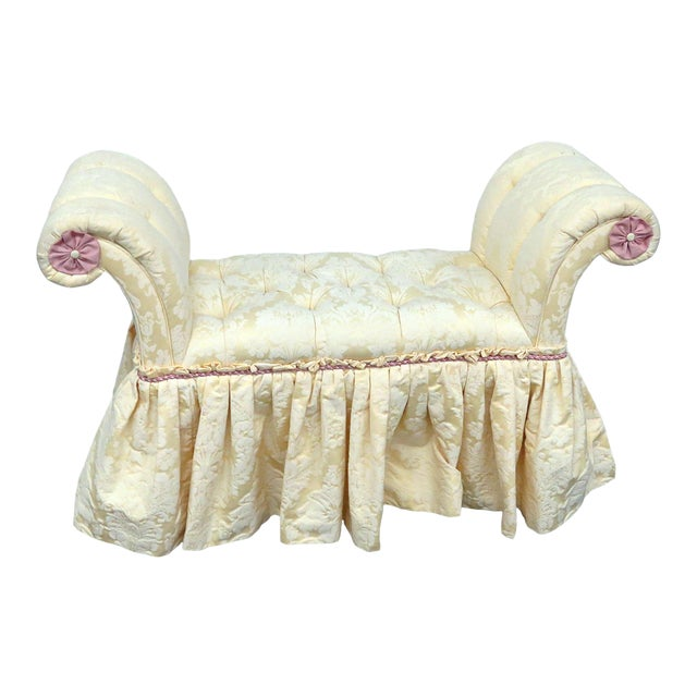 Edward Farrell Regency Style Skirted Bench For Sale