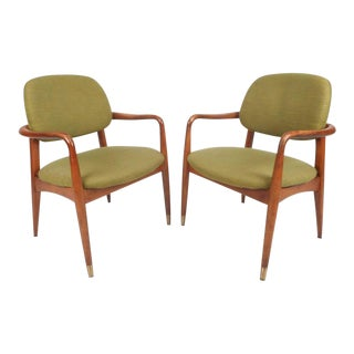 Danish Mid-Century Modern Armchairs - A Pair For Sale