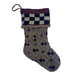 African Kuba Textile Christmas Stocking For Sale