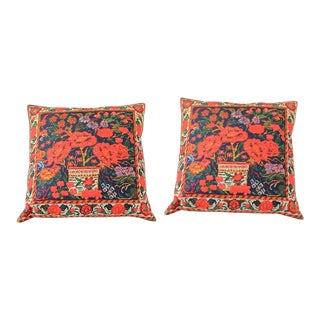 1990s Vintage Decorative Persian Accent Pillows- A Pair For Sale