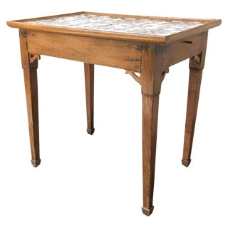 19th C. Swedish Tile Top Table