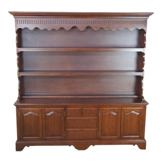 Early American Mahogany Serpentine Display Sideboard For Sale