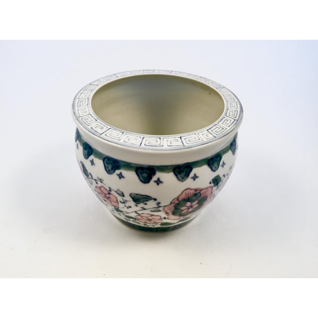1970s Chinese Hand Painted Planter For Sale - Image 9 of 9