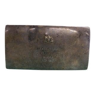 Vintage Sterling Silver Delaware Squash Veterans Winner Box