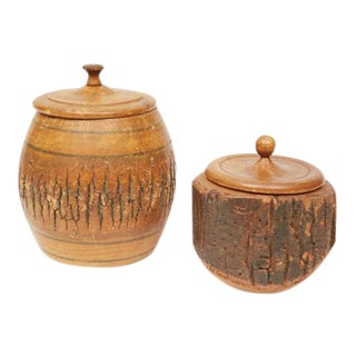 Wooden Containers - A Pair
