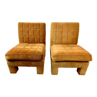 Milo Baughman for Thayer Coggin Slipper Chairs - a Pair For Sale