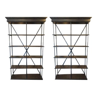 Restoration Hardware Parisian Cornice Double Shelvings - a Pair