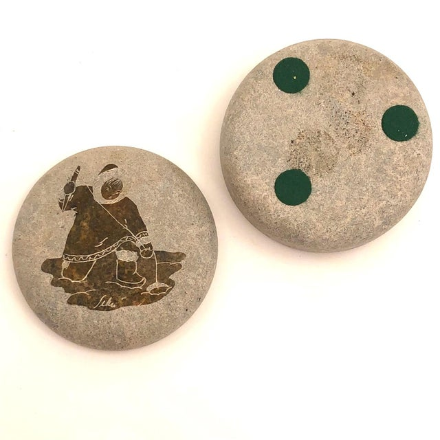 Soapstone Late 20th Century Inuit Etched Soapstone Lidded Box For Sale - Image 7 of 8
