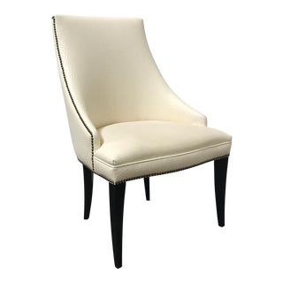 RJones Sophia Arm Chair in Faux Ostrich Leather For Sale