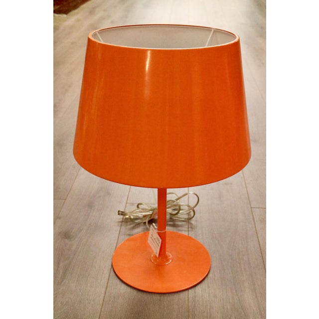 Vintage Orange Lamps - A Pair - Image 3 of 5