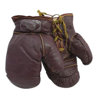 Child's Leather Boxing Gloves - a Pair For Sale