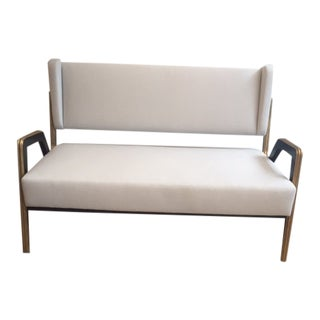1950's Italian Gray Settee For Sale
