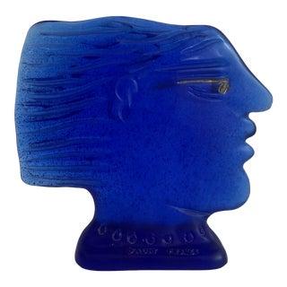 Daum France Kallisti Glass Bust For Sale