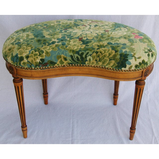 Italian Scalamandre Marly Fabric Bench - Image 2 of 11