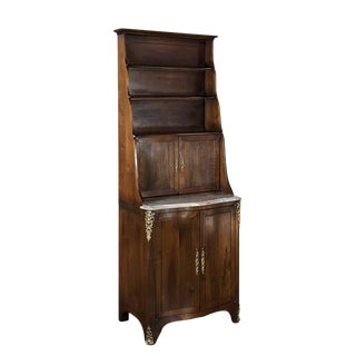 19th Century Country French Blonde Walnut Cabinet For Sale