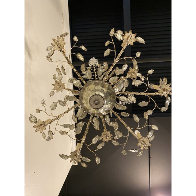 1930s 1930s French Silver Leaves Chandelier For Sale - Image 5 of 9