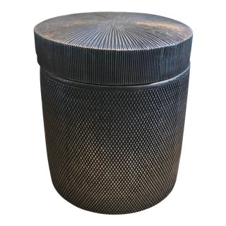 Kassatex Gray Mesh Cotton Jar For Sale
