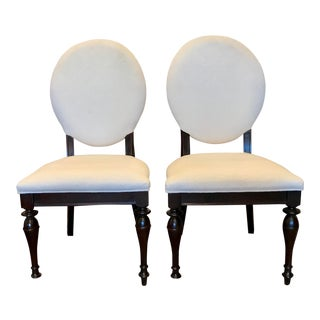 Modern Stanley Furniture Oval Back Chairs- A Pair For Sale