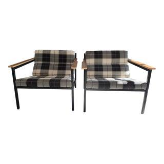Gus Modern Halifax Tartan Plaid Chairs-a Pair For Sale