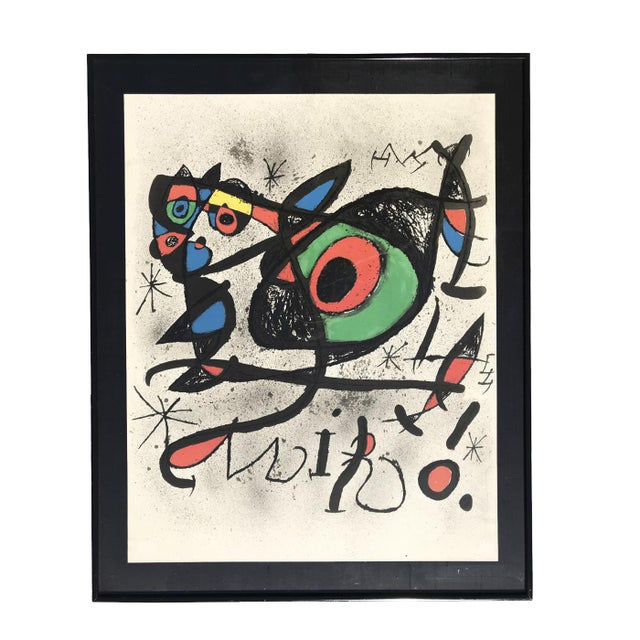 Joan Miró Joan Miro, 1893-1983 Lithograph Mid Century Modern Artwork For Sale - Image 4 of 4