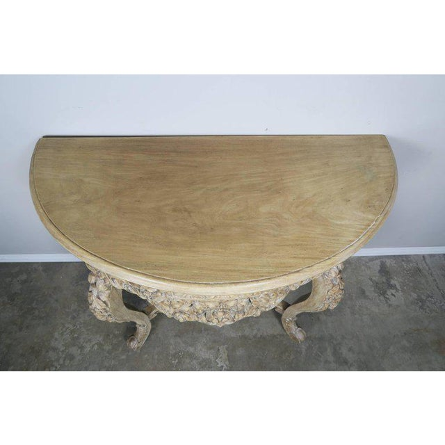 French Rococo Style Console With Centre Drawer For Sale - Image 4 of 10