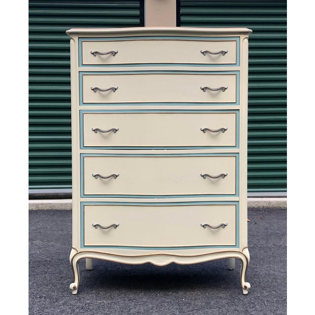 White French Provincial Drexel Tall Dresser For Sale - Image 11 of 11