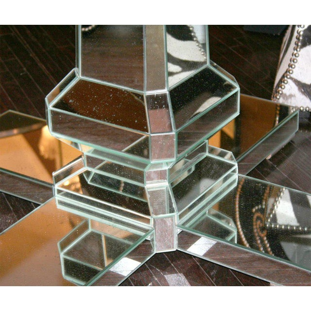 2000 - 2009 Custom Mirrored Center Hall Table For Sale - Image 5 of 7