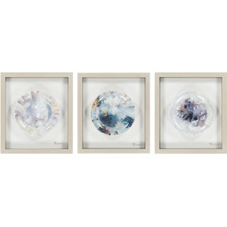 Splatter Paint Framed Plate Wall Decor in Purple - Set of 3 For Sale