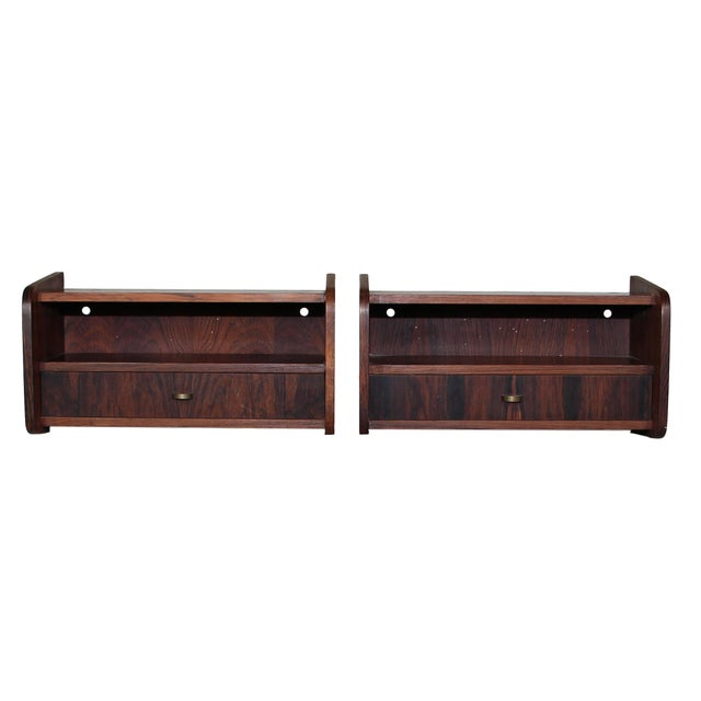 Pair of Mid Century Rosewood Night Stands For Sale - Image 9 of 9