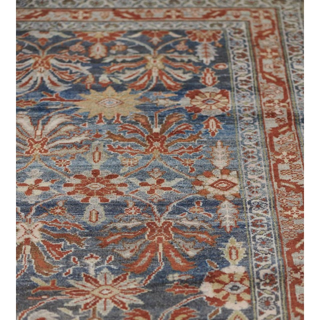 Persian Late 19th Century Handwoven Malayer Wool Rug For Sale - Image 3 of 10