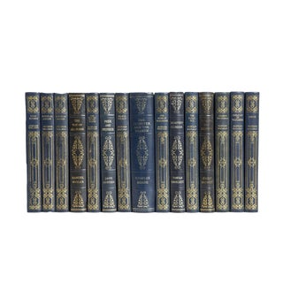 Navy and Gilt Classics Book Set, (S/15) For Sale