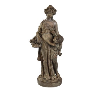 Terracotta Sculpture of a Maiden For Sale
