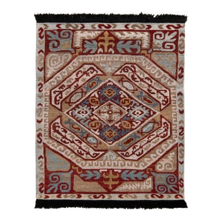 Rug & Kilim's Classic Style Rug in Beige-Brown and Red Tribal Pattern For Sale