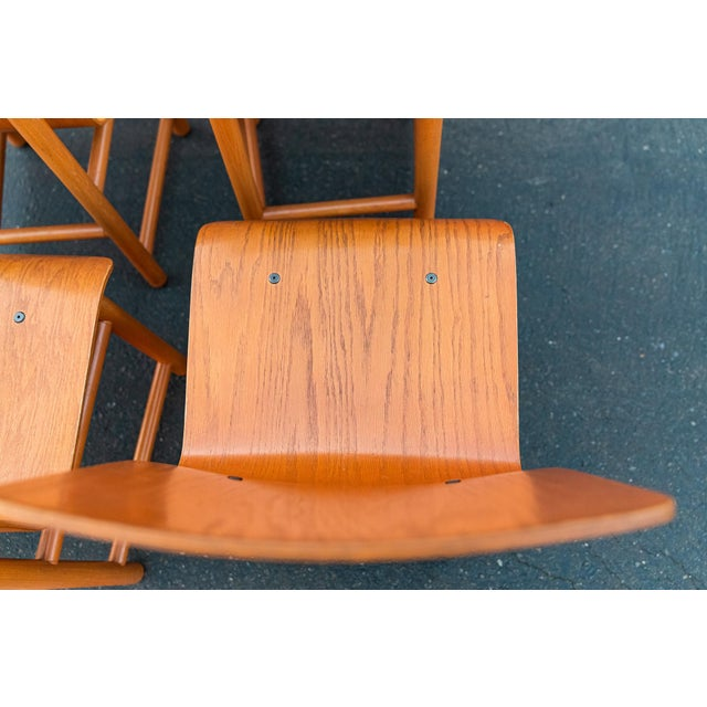 Wood Vintage Modern Moulded Plywood Chairs - Set of 8 For Sale - Image 7 of 11