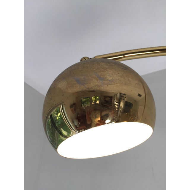 70s Brass & Marble Articulating Floor Lamp For Sale - Image 4 of 6