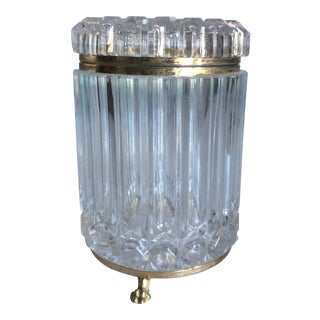 Traditional Footed Crystal Container