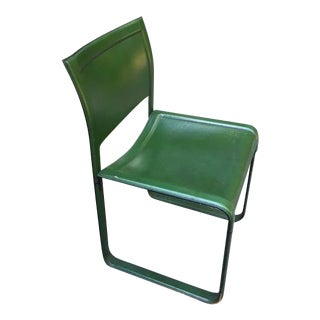 Matteo Grassi Modern Italian Sistina Strap Chairs Green 1980s Set of Four For Sale
