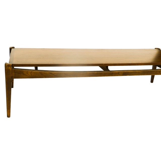 "This rare, impressive, and sleek Mid-century Modern ""Artisan Collection"" line coffee table by Bassett was manufactured in..."