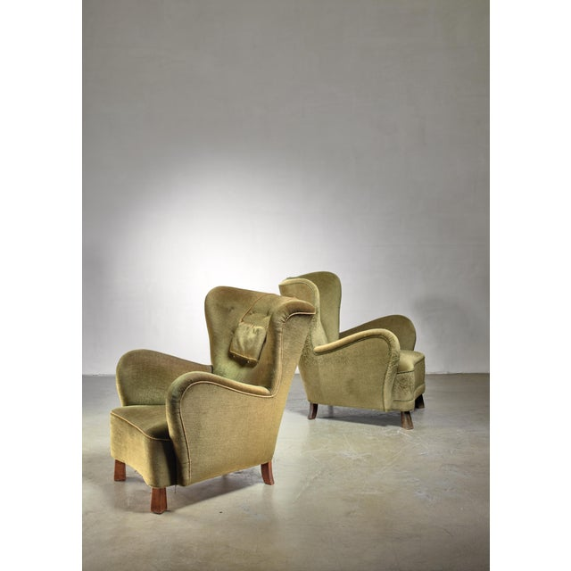 Pair of Green Otto Schulz Lounge Chairs, Sweden, 1930s For Sale - Image 6 of 6