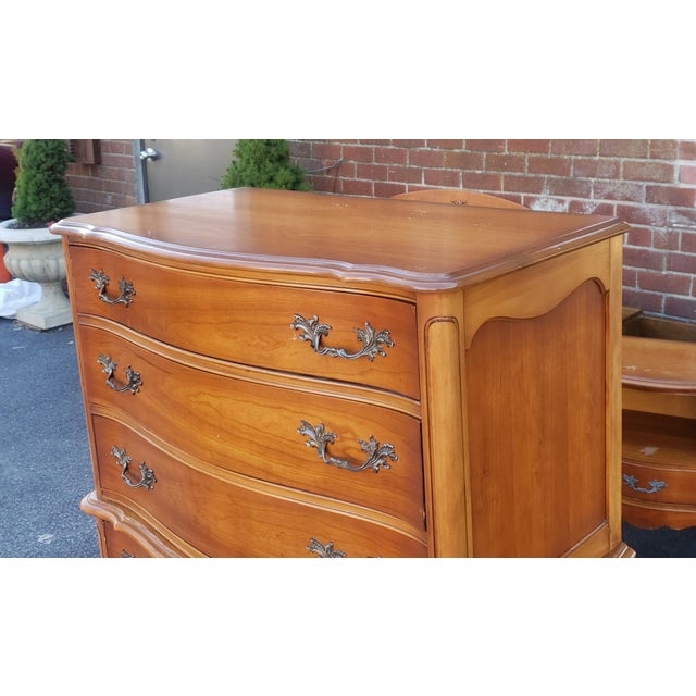 French 1960s French Provincial Fruitwood 6 Drawer Bedroom Chest of Drawers For Sale - Image 3 of 13