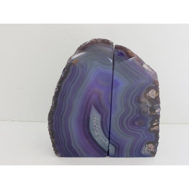 Purple Geode Bookends - A Pair - Image 2 of 7