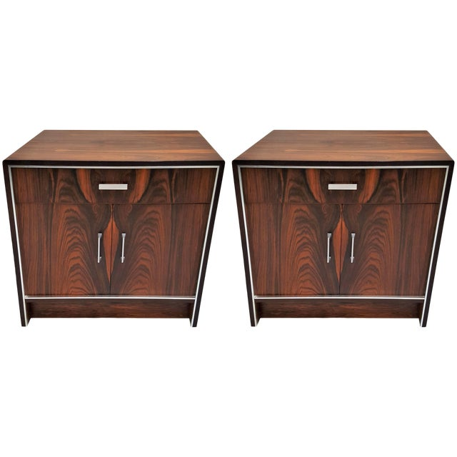 Pair of 20th Century Rosewood Falster of Denmark Side Tables For Sale