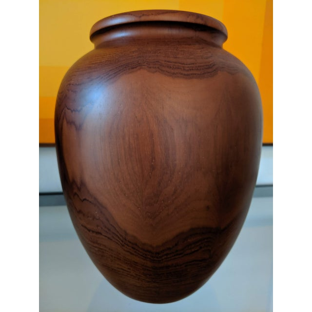 Oversize Turned Walnut Vessels, a Pair For Sale - Image 9 of 12