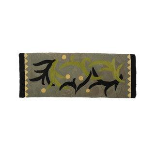 Matisse Style Mid-Century Modern Folk Art Hook Rug - 2′8″ × 7′2″ For Sale
