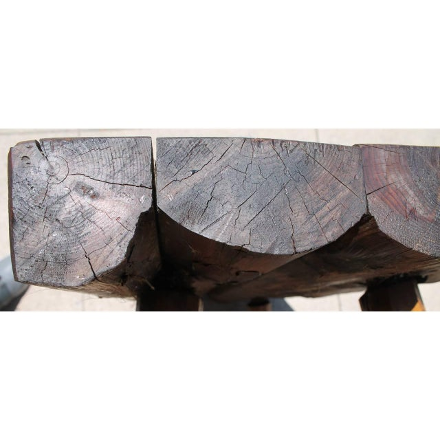 Rustic Bench/Shelf Signed Habitant - Image 7 of 7