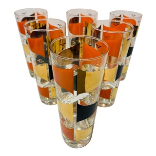 Mid-Century Cocktail Tall Glasses - Set of 6 For Sale