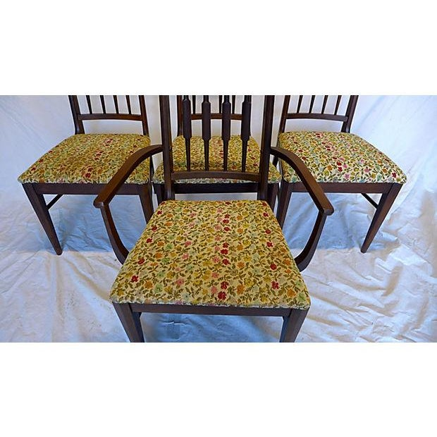 Mid-Century Reed-Back Dining Chairs - Set of 4 For Sale - Image 4 of 8