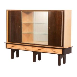 Mid-Century Danish Modern Georg Kriener China Cabinet For Sale