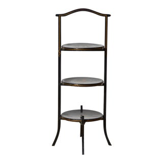 Ebonized Chinoiserie Muffin Stand For Sale