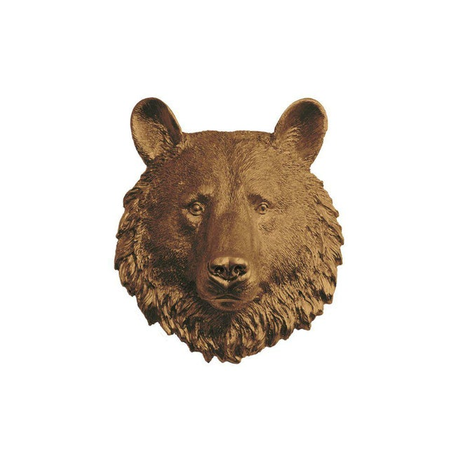 Boho Chic Wall Charmers Bear Mini in Bronze For Sale - Image 3 of 3